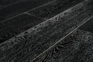 Массивная доска Дуб Черно-белый Браш Лак 18х120х300-1800 мм